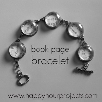 Book Page Bracelet at Happy Hour Projects