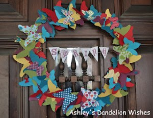 Butterfly Wreath - Ahsleys Dandelion Wishes