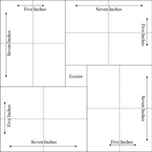ATC Cutting Diagram - 12 x 12 Cardstock - Source - Club Scrap Addicts