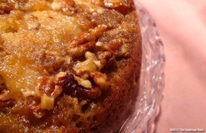 Moist Red Pear Upside Down Banana Cake - The Red Head Riter