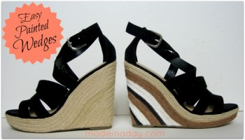 Easy Painted Wedges