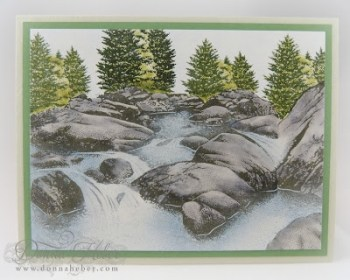 Stampscapes Card - Babbling Brook
