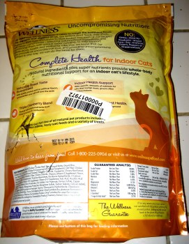Wellness Complete Health Food - Back Of Bag