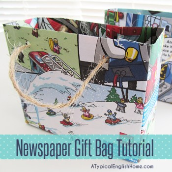 Newspaper Gift Bag Tutorial