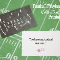 Football Valentine Printables