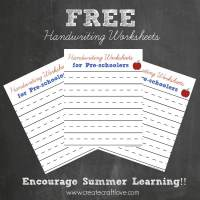 FREE Handwriting Worksheets for Pre-schoolers