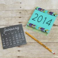 2015 Chalkboard Calendar Printable