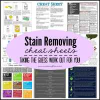 Stain Removing Cheat Sheets