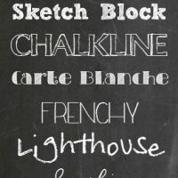 Back to School Chalkboard Fonts