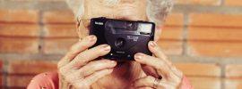 Grandma Holding Camera