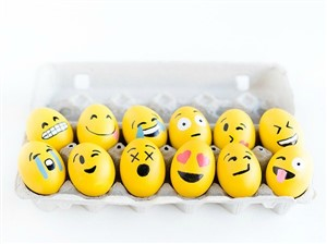 emoji - 17 modalitati creative de a decora ouale de Paste