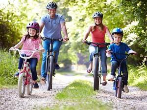 familie care se plimba cu bicicletele - Cum să te conectezi cu familia ta, dar nu online