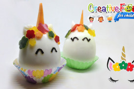 Unicorno uovo sodo e verdure