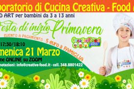"""FESTA DI PRIMAVERA – Laboratorio di CUCINA CREATIVA """"Food Art"""" per bambini – OnLine su Zoom"""