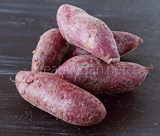 Boniatos morados