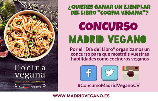 Concurso Madrid Vegano: participa y gana un libro Cocina Vegana de Virginia García y Lucía Martínez