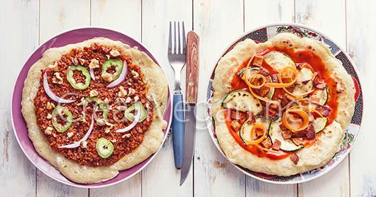 Pizzas veganas hechas con las bases sin amasado y sin horno - CreatiVegan.net