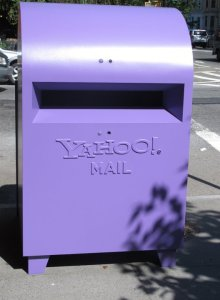Yahoo! Mailbox: The Purple People Greeter Guerrilla Marketing Photo