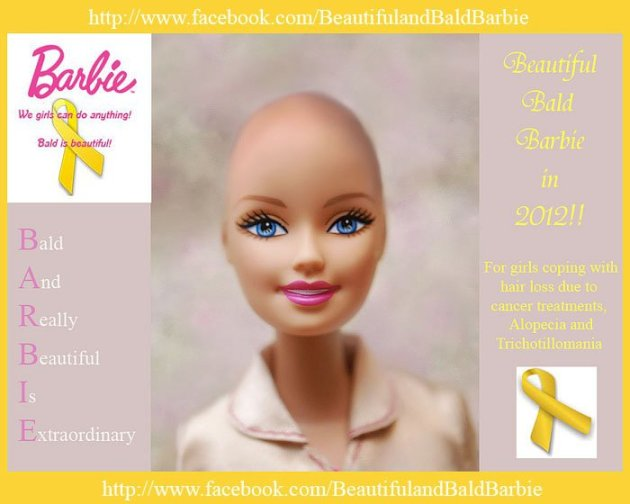 Bald Barbie Facebook Campaign Gains Momentum Guerrilla Marketing Photo