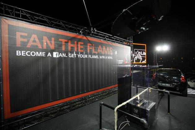 Become A Fan. Get Your Flame. Win A Mini. Guerrilla Marketing Photo