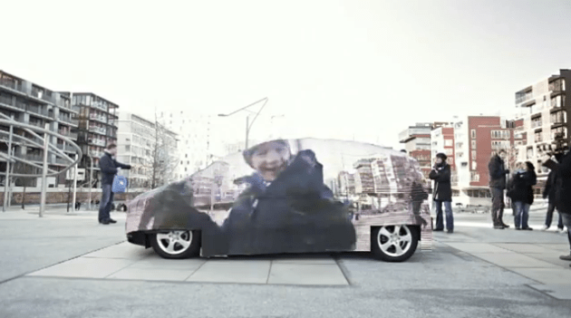 Mercedes Car Turns Invisible In Guerrilla Campaign Guerrilla Marketing Photo
