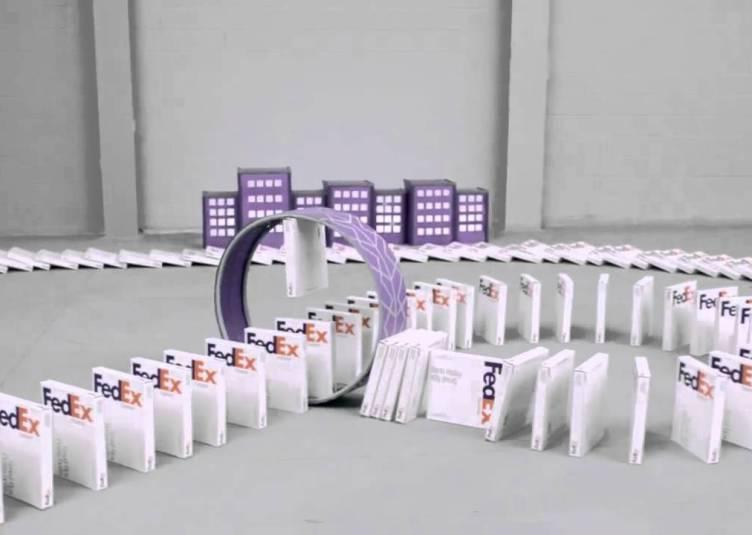 FedEx Dominoes