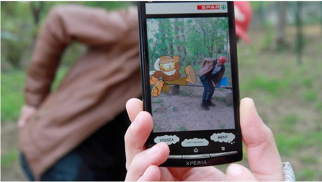 Garfield Gets His Own Augmented Reality App Guerrilla Marketing Photo