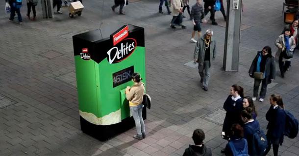 Delite O Matic Vending Machine Tests How Far Youll Go For Fantastic Delites Guerrilla Marketing Photo