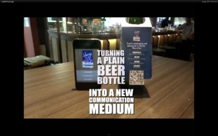 QR Code Beer for Singles Guerrilla Marketing Photo