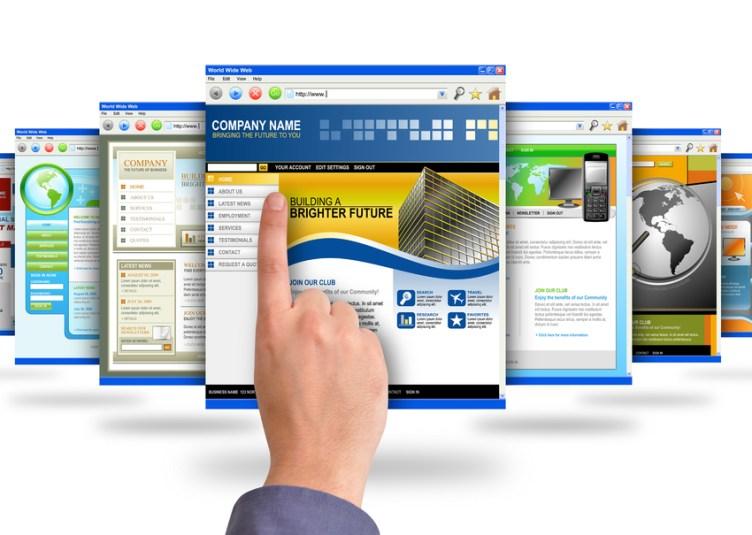 Picture of finger choosing website