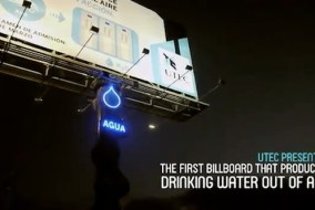 Creative Water Producing Billboard
