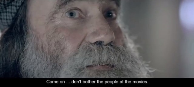 Fiftyfiftys Frozen Cinema Simulates Being Homeless In Guerrilla Campaign Guerrilla Marketing Photo