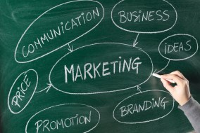 stock marketing chalkboard