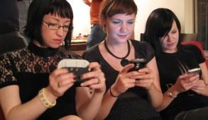 Girls Using Mobile Phones