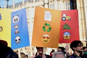 Pentagram Designs Placards Made Only With Emojis!