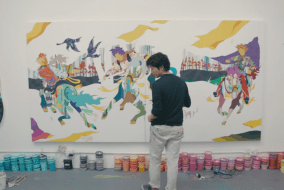 Toshiba helps an artist create an exhibition in just 17 hours!