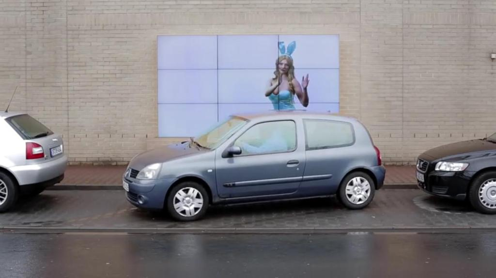 Fiat Creates Unique Interactive Billboard That Helps You Park Your Car Guerrilla Marketing Photo