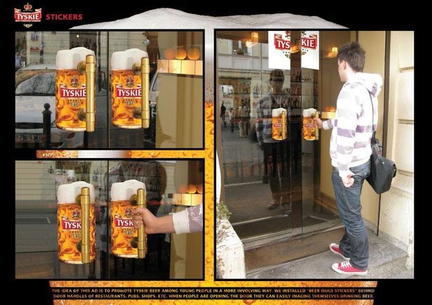 Creative Uses of Stickers in Advertising Guerrilla Marketing Photo