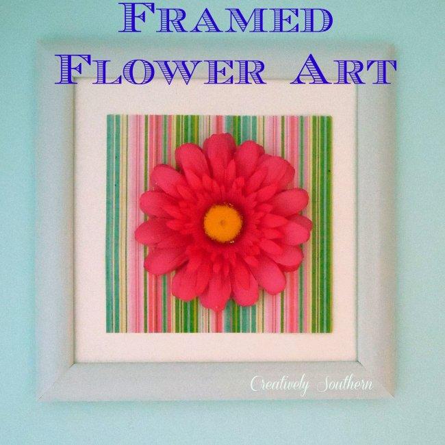 Framed Flower Art