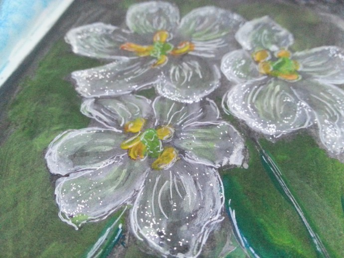 Skeleton flower turns transparent by Cristina Parus @ creativemag.ro