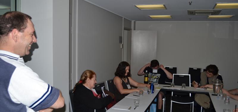 Chris Andrews and workshop participants.
