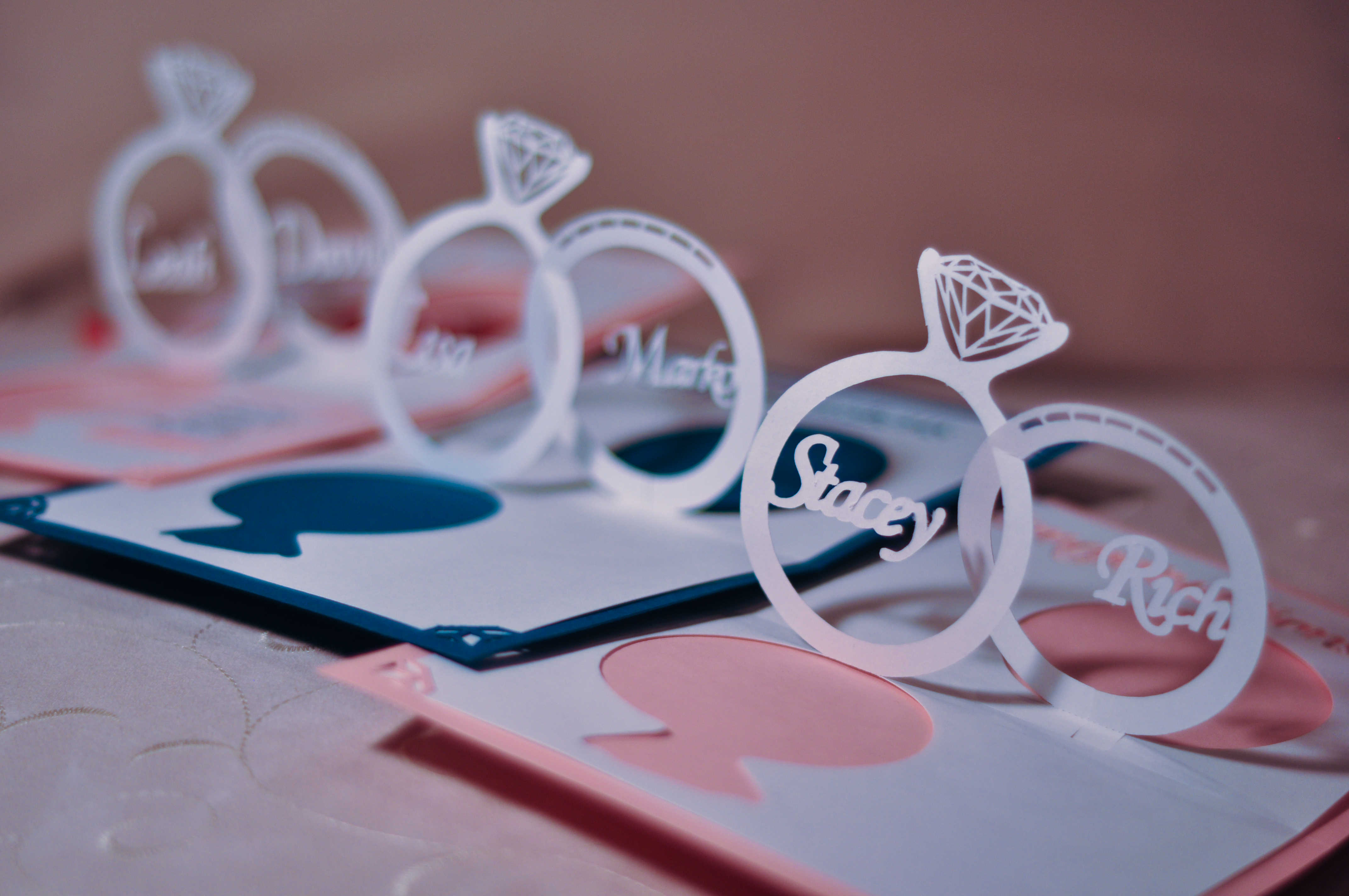 wedding invitation pop up card linked rings tutorial wedding card invitation These instructions