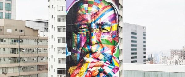 San Paulo Skyscraper mural