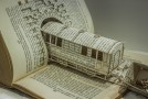 Derailing My Train of Thought – 3D Book Sculpture