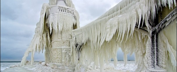 The Frozen Lighthouses of Lake Michigan