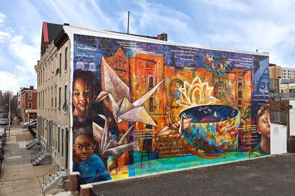 Peace is a Haiku Song Mural