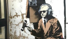 A new Banksy? GCHQ-mocking graffiti