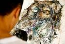 Beautiful Owl Illustrations with Paint Splashes