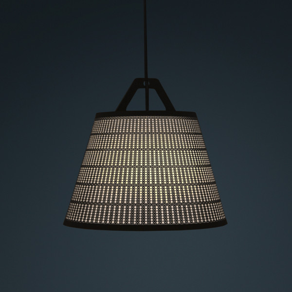 laser stitched lampshade 5