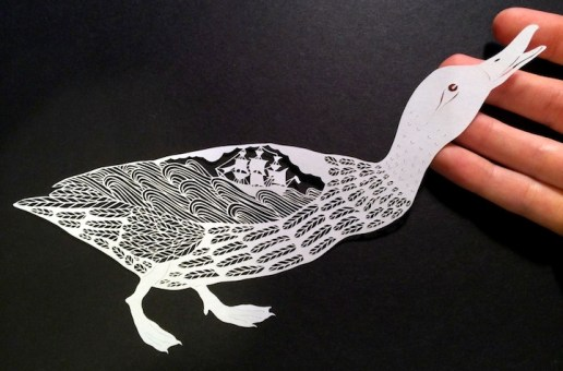 Amazingly detailed hand cut paper illustrations